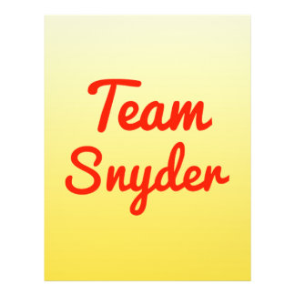 Team Snyder Personalized Flyer