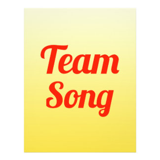 Team Song Personalized Flyer