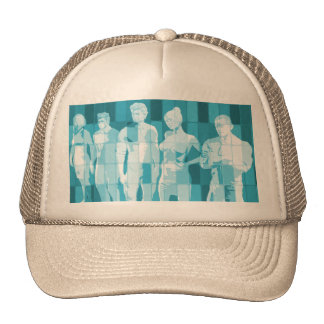 Team Spirit On a Mission in Business Concept Cap
