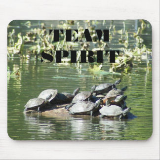 Team Spirit Turtle Photo Motivational Mouse Pad