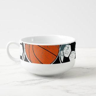 Team sport balls soup mug