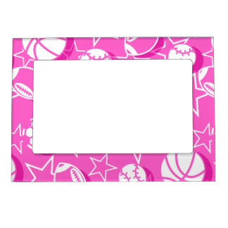 Team sports girls magnetic picture frame