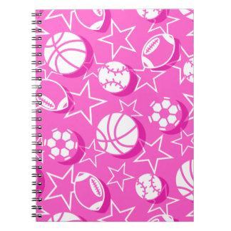 Team sports girls notebooks
