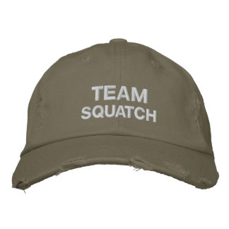 Team Squatch Embroidered Baseball Caps