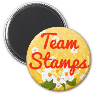 Team Stamps Refrigerator Magnets