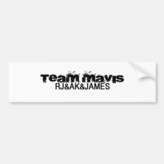 team sticker car bumper sticker