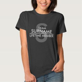 TEAM (Surname) Lifetime Member T Shirts