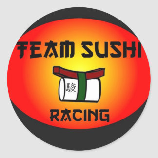 Team Sushi Racing Round Sticker