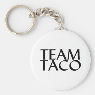 Team Taco Basic Round Button Key Ring