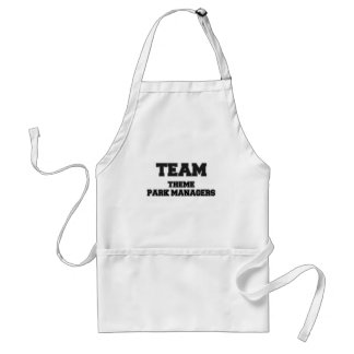 Team Theme Park Managers Aprons