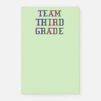 Team Third Grade, Novelty School Post-It Notes