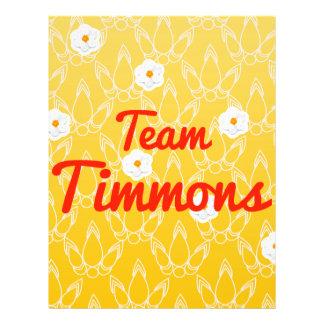 Team Timmons Custom Flyer