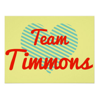 Team Timmons Poster