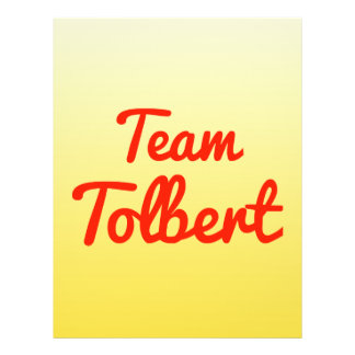 Team Tolbert Flyer Design