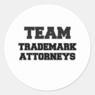 Team Trademark Attorneys Round Sticker
