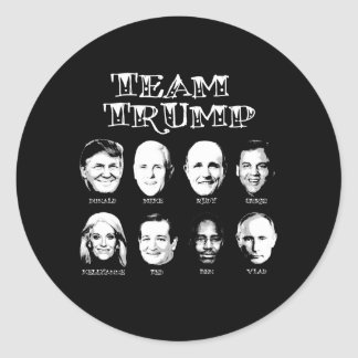 Team Trump - Trump Team Classic Round Sticker