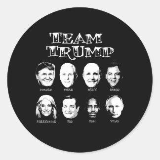 Team Trump - Trump Team Round Sticker