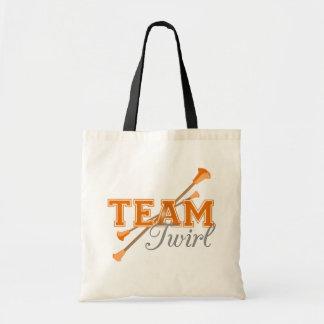 Team Twirl Baton Tote Bag
