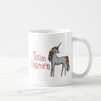 Team Unicorn Rainbow Basic White Mug