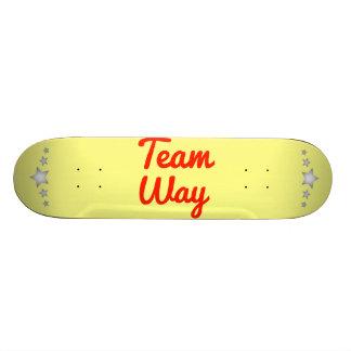 Team Way Skateboard Decks