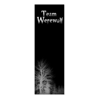 Team Werewolf Skinny Bookmark Business Cards