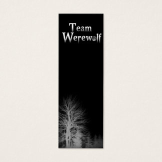 Team Werewolf Skinny Bookmark Mini Business Card