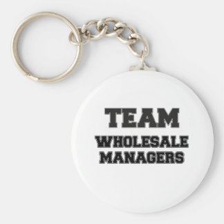 Team Wholesale Managers Basic Round Button Key Ring