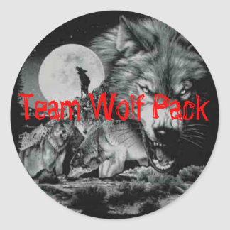 Team Wolf Pack Classic Round Sticker