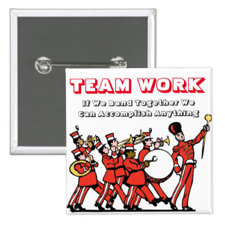 Team Work Band- Square Button