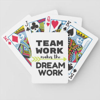 Team Work Makes the Dream Work Bicycle Playing Cards