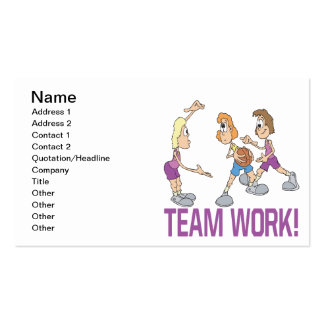 Team Work Pack Of Standard Business Cards