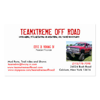 team xtreme cards business card templates