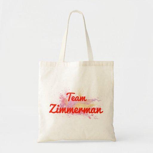Team Zimmerman Canvas Bag