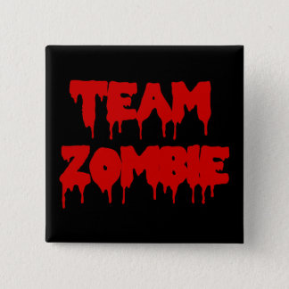 Team Zombie 15 Cm Square Badge