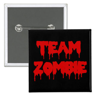 Team Zombie 15 Cm Square Badge