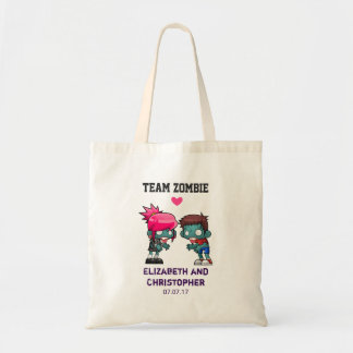 Team Zombie Cute Zombie Couple Wedding Tote Bag