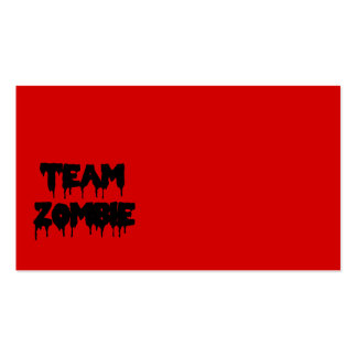 Team Zombie Pack Of Standard Business Cards
