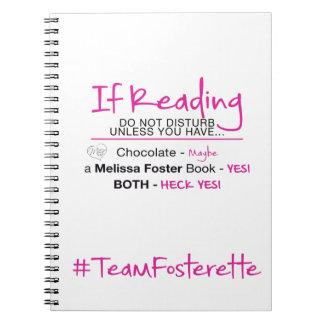 #TeamFosterette If Reading Do Not Disturb Notebook