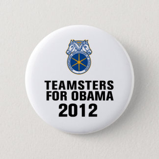 Teamsters For Obama 6 Cm Round Badge