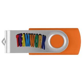Teamwork Add Your Logo Custom USB Flash Drive