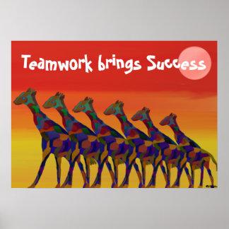 Teamwork brings Success Motivational Poster