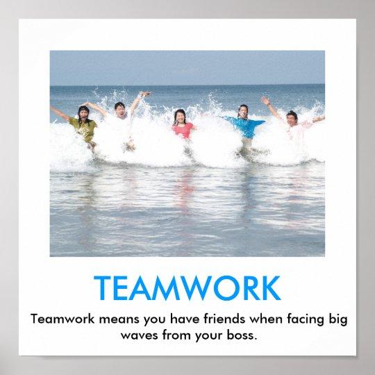 Teamwork Demotivational Poster Zazzle Com Au