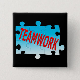 Teamwork Jigsaw Puzzle 15 Cm Square Badge