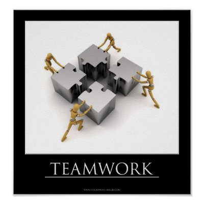 Teamwork Motivational Posters on Teamwork Motivational Poster   Zazzle Com Au