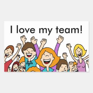 Teamwork People Sticker Rectangular Sticker