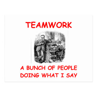 teamwork post cards