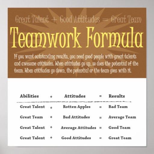Teamwork Poster Formula