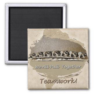 Teamwork White Elephants Magnet