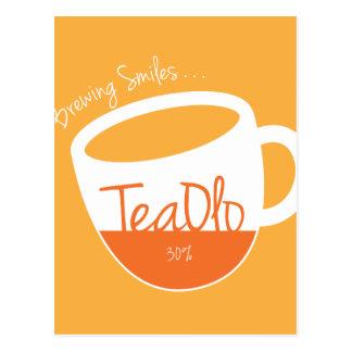 TeaOlo Brewing Smiles Orange Fit Postcard