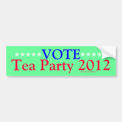 teaparty 2012 bumper stickers